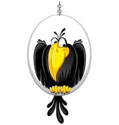 cartoon crow vector image