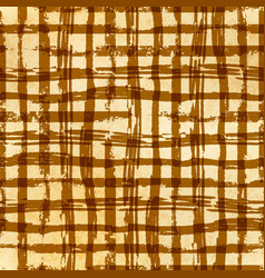 hand drawn grunge ink grid on old paper seamless vector image