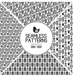 set of seamless pattern graphic elements texture vector image vector image