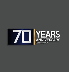 70 years anniversary logotype with blue vector