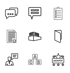 9 text icons vector image