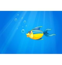 A deep sea with a fish vector