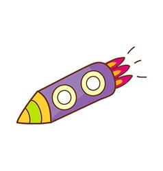 A shooting rocket vector