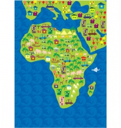 Africa geography vector image