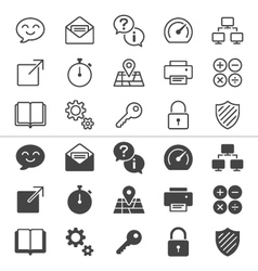 Application icons thin vector image
