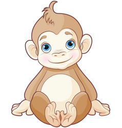 bamonkey vector image