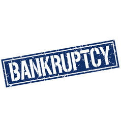 Bankruptcy square grunge stamp vector