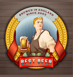 Best beer 2 vector