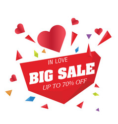 big sale in love up to 70 off big heart im vector image