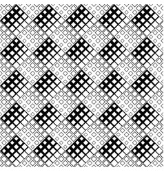 black and white diagonal square pattern background vector image