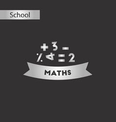Black and white style icon math lesson vector