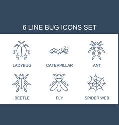 Bug icons vector