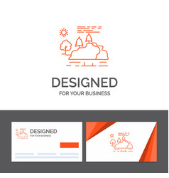 Business logo template for hill landscape nature vector