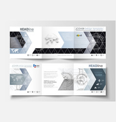 business templates for square tri fold brochures vector image vector image