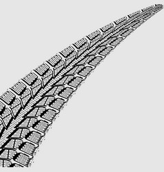 Car tires tracks over white background vector