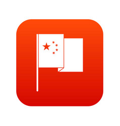 china flag icon digital red vector image