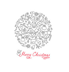 christmas background doodle winter christmas vector image