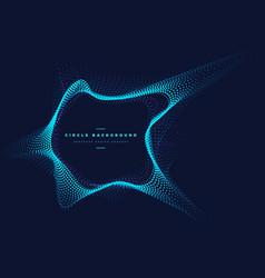 Circle particle comet shape vector
