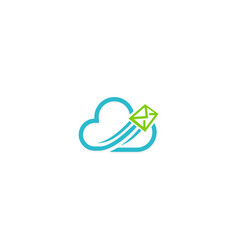 Cloud mail media technology logo vector