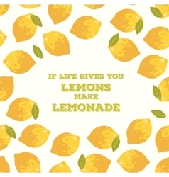 Colorful poster with summer lemons vector image