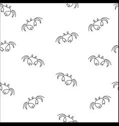 crab seamless pattern vector image