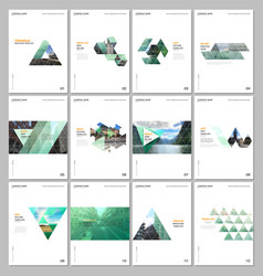Creative brochure templates with triangular design vector