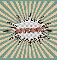 declaration impeachment pop art vector image
