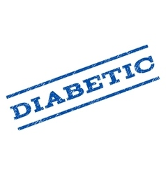 Diabetic Watermark Stamp vector image