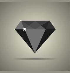diamond icon in flat style vector image