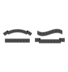 film strip frame set line different shape ribbon vector image