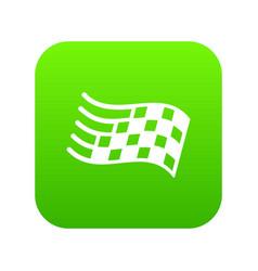 finish flag icon green vector image