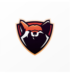 fox shield e sport logo icon vector image
