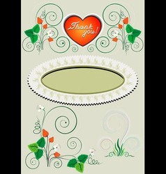 Frame and corner with the decor vector image
