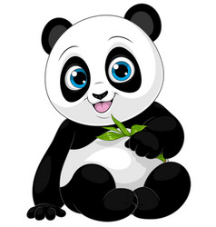 funny little panda child vector image