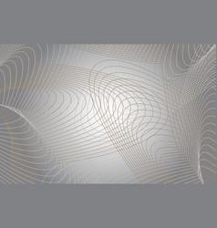 guilloche modern grey background vector image