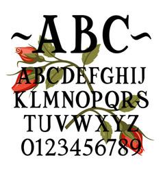 handmade sans serif 001 vector image