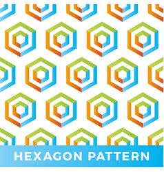 hexagon arrow seamless geometric pattern shaped vector image