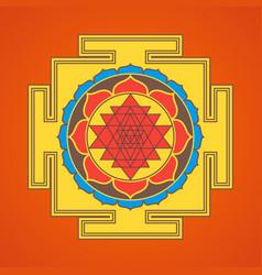 Hinduism yantra sacred geometry mandala vector