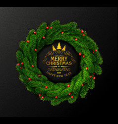 holiday for christmas and new year vector image