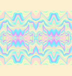 Holographic waves seamless pattern vector