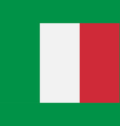 italy italian flag official colors vector image