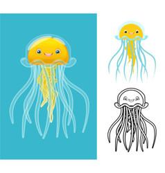 Jellyfish vector image