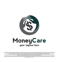 Logo design money movements with dollar signs vector