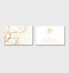 Luxury business cards template banner and vector