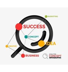 Marketing analysis concept vector