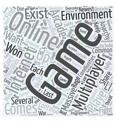 Massive Multiplayer gaming communities Word Cloud vector image
