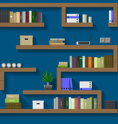 Maze of shelves vector