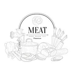 Meat Vintage Sketch vector image