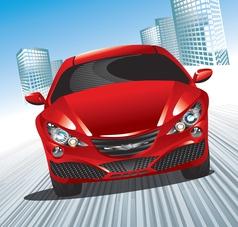 modern car vector image