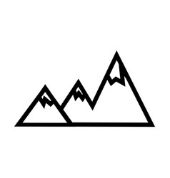 Mountain line icon outline sign linear vector